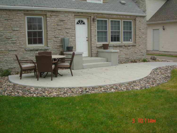 Minneapolis Concrete Patio Affordable-Low Cost Solution - Concrete Patios - A. Pietig Concrete & Brick Paving