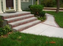 Concrete with Brick Borders