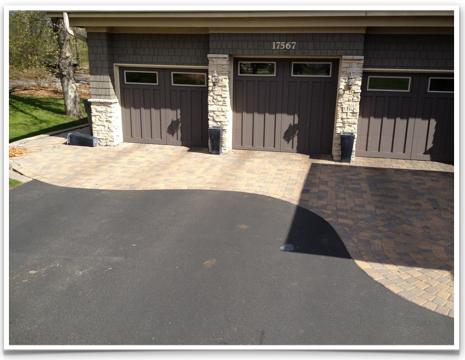 paver driveway in Eden Prairie