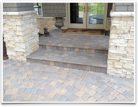 Pavers, Sidewalk, custom stone Eden Prairie