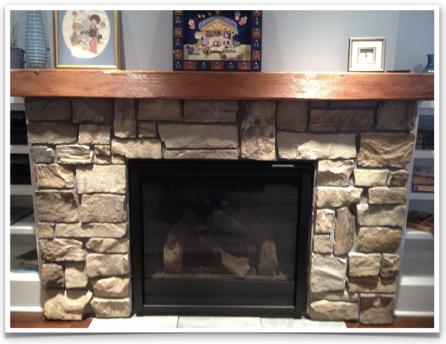 Custom stone Minneapolis Fireplace